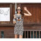 Sleeveless Leopard Bodycon Dress