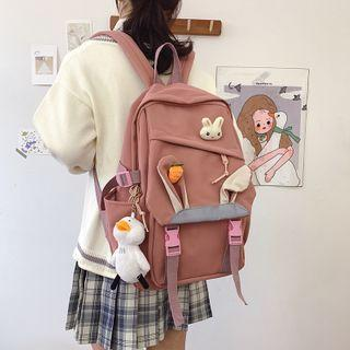 Rabbit Ear Accent Snap Buckle Backpack