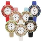 Glitter Resin Strap Watch