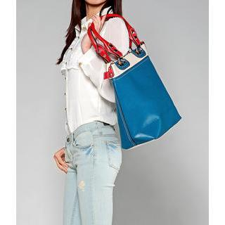 Two-tone Tote Blue - One Size