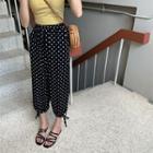 Dotted Harem Pants Black - One Size