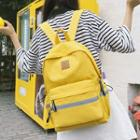 Canvas Contrast Stripe Backpack