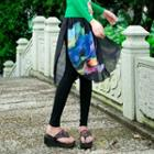 Legging Inset Printed Skirt