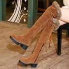 Fleece-lined Platform Over-the-knee Snow Boots