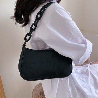 Croc Grain Mini Chain Shoulder Bag