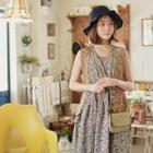 Sleeveless Floral Pattern Long Dress