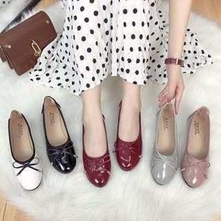 Bow Round Flat Shoes