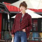 Open-placket Checked Shirt