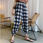 Plaid Harem Pants Plaid - One Size