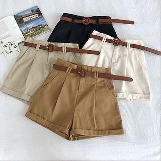 Roll-up High-waist Cargo Shorts