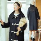 Plain Knit Toggle Coat