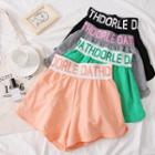 Lettering Colorblock Shorts