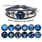 Zodiac Bead Leather Layered Bracelet