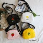 Patent Fruit Print Crossbody Bag