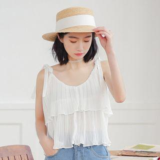 Shoulder-tie Layered Chiffon Top