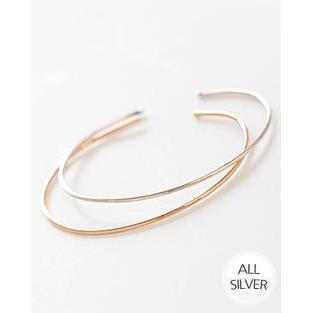 Slim Silver Open Bangle