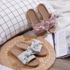 Gingham Bow Slippers