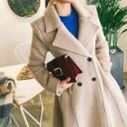 Wool Blend A-line Long Coat