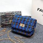 Chain Strap Knit Cross Body Bag