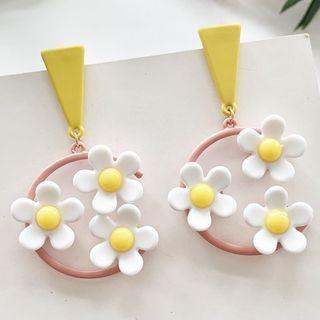 Flower Drop Earrings Studded Earring - One Size