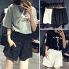 High-waist Wide-leg Shorts