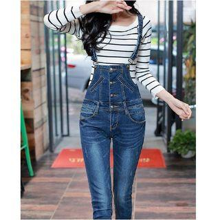 Skinny Dungaree Jeans