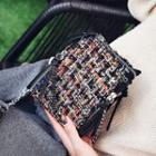 Tweed Chain Strap Crossbody Bag