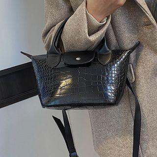 Croc Grian Top Handle Crossbody Bag