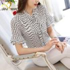 Dotted Short-sleeve Top
