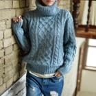 Turtleneck Mohair Thick Sweater