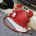 Crab Faux Leather Shoulder Bag