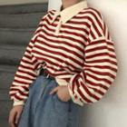 Collared Striped Pullover