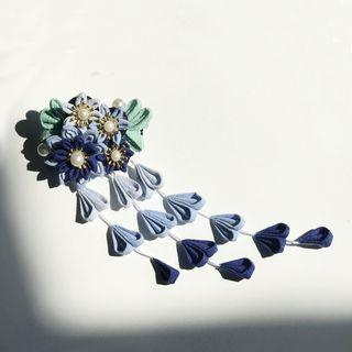 Floral Hair Clip Blue - One Size