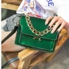 Chained Patent Shoulder Bag