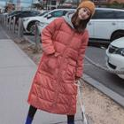 Hooded Striped Padded Coat