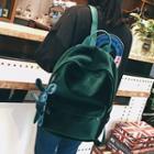 Plain Velvet Lightweight Backpack