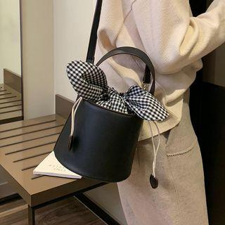 Bow Accent Bucket Bag