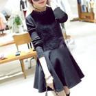 Knit Panel A-line Dress
