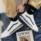 Faux Leather Platform Lace-up Sneakers