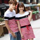 Couple Matching Striped Short-sleeve T-shirt / Dress