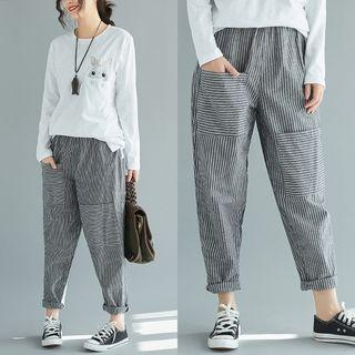 Pinstriped Baggy Pants