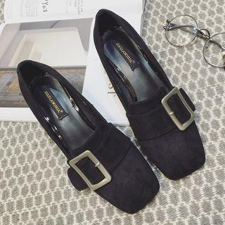 Chunky-heel Buckled Loafers