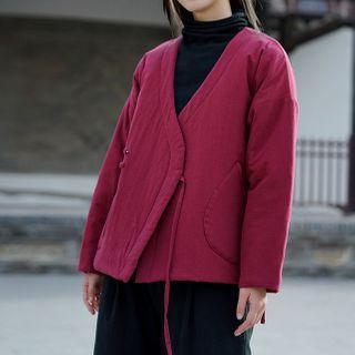 Lace Up Coat