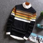Long-sleeve Gradient Basic Sweater