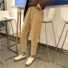 Corduroy Cropped Straight Cut Pants
