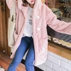 Furry Toggle Hooded Coat