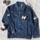 Applique Embroidered Denim Jacket