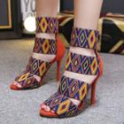 Patterned High-heel Sandals