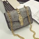Buckled Chain Strap Shoulder Bag