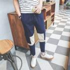 Corduroy Panel Drawstring Pants